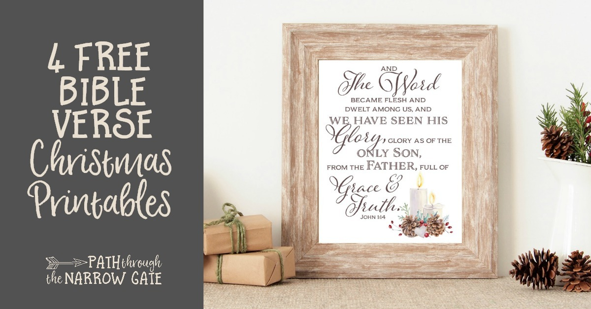 Christmas Bible Verse Printables Path Through The Narrow