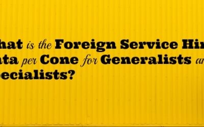 What is the Foreign Service Hiring Data per Cone for Generalists and Specialists?