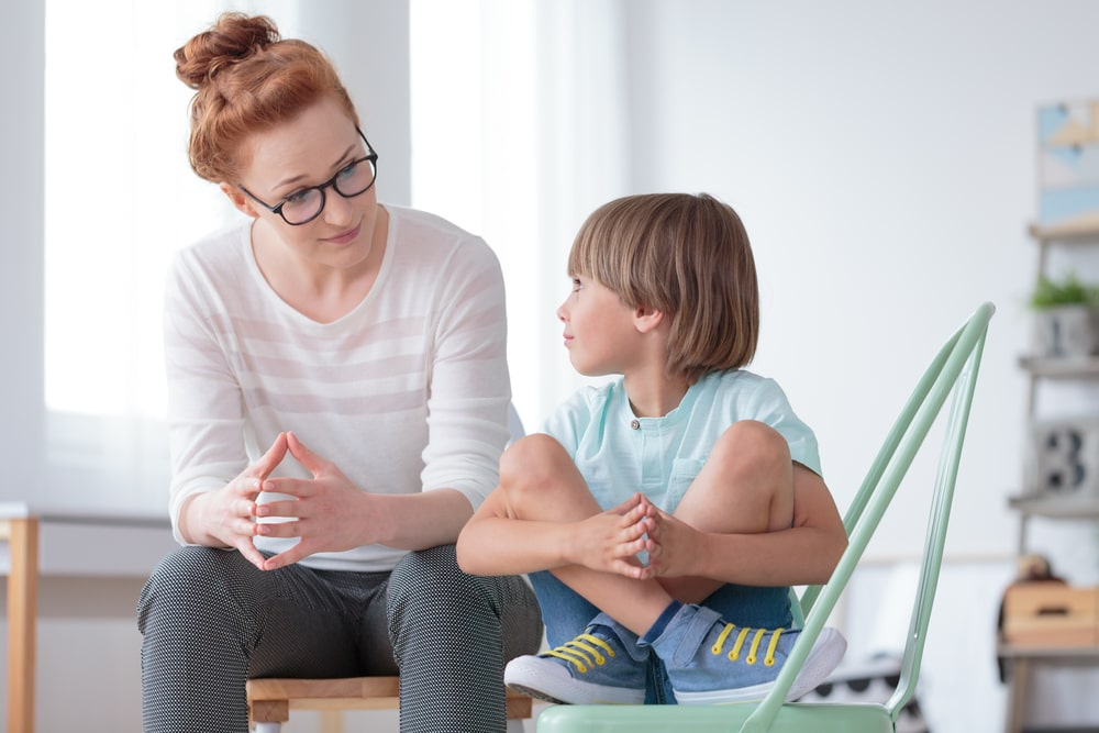 Mom Talking to son about mental health