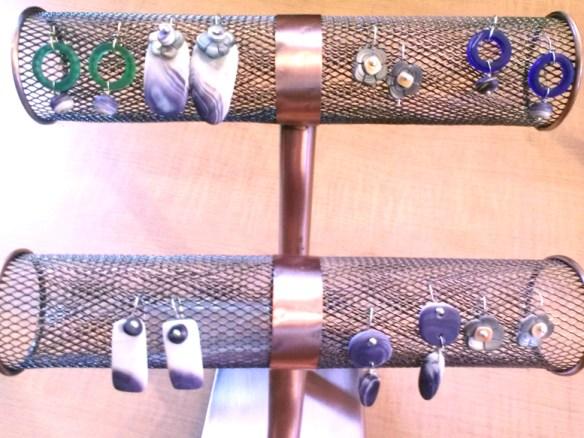 Wampum Earrings by Joan Lelacheur