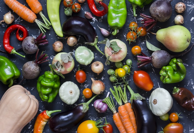 seasonal variety of healthy vegetables