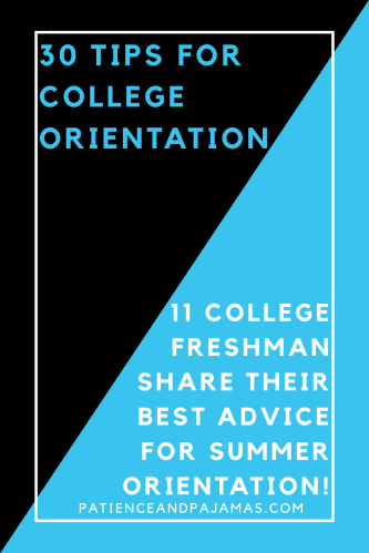 30 College Orientation Tips
