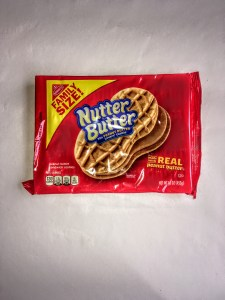 A package of nutter butter cookies, front view.