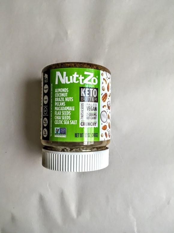 Jar of nuttzo keto butter, front