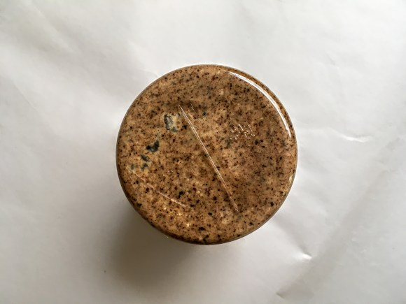 Jar of nuttzo keto butter, bottom view