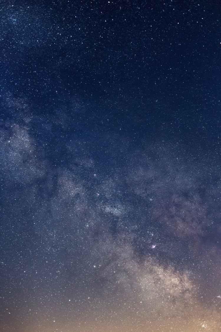 nature sky night milky way