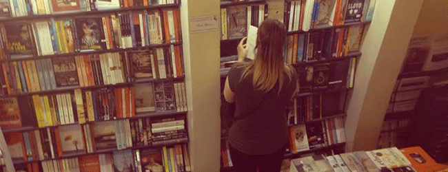 Lisa in Bookstore