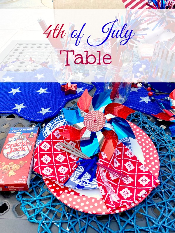 Last minute 4th of July Table