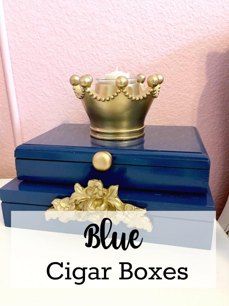 Blue Cigar Boxes
