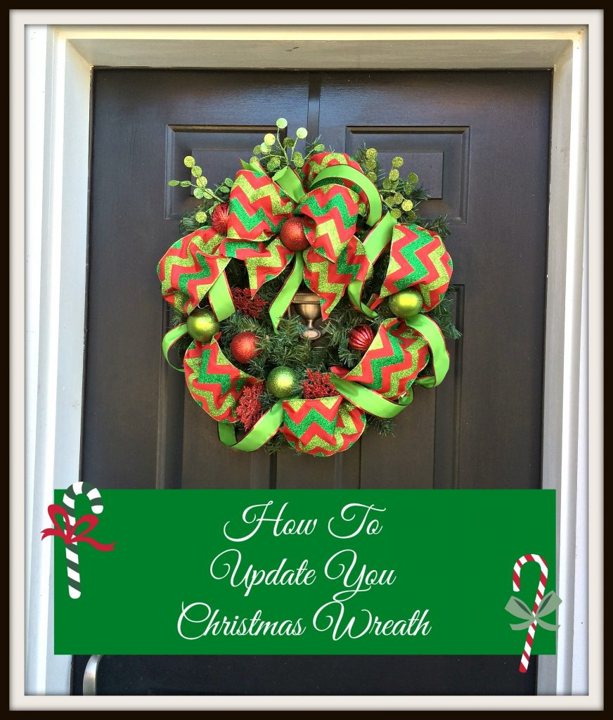 How to Update Your Christmas Wreath