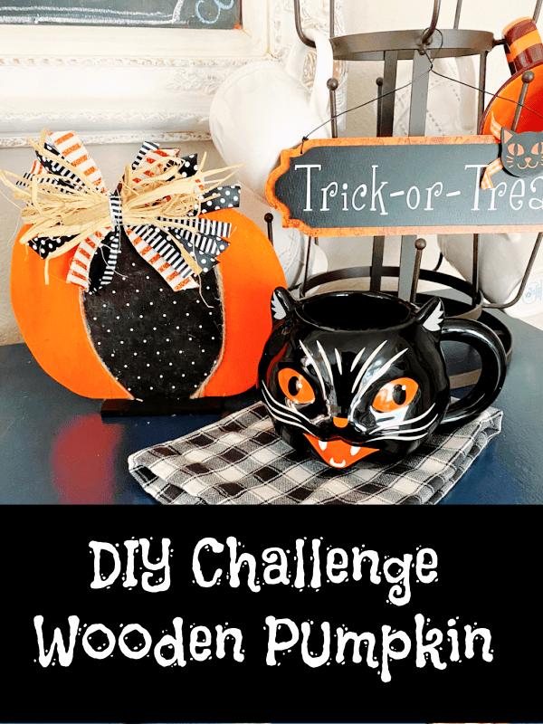 DIY Challenge Wooden Pumpkin