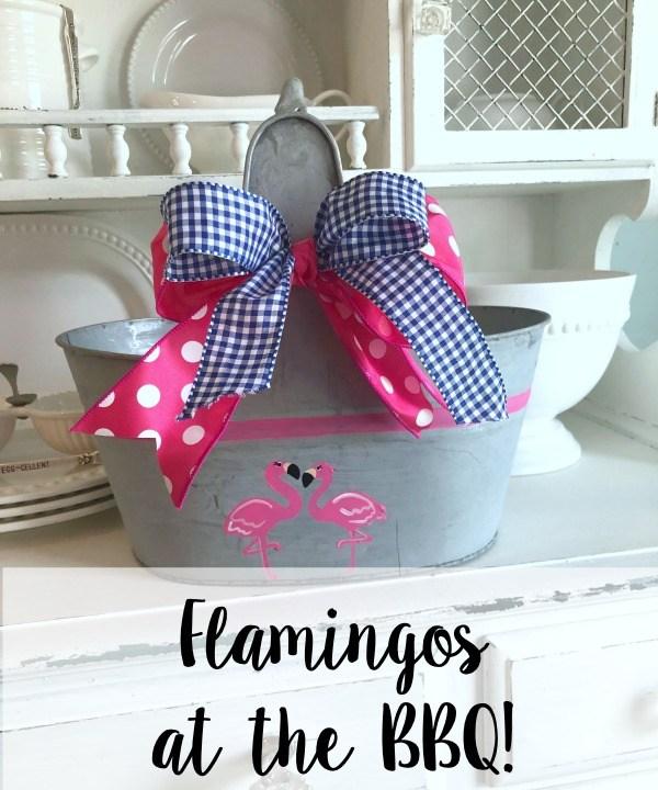 Flamingos at the BBQ