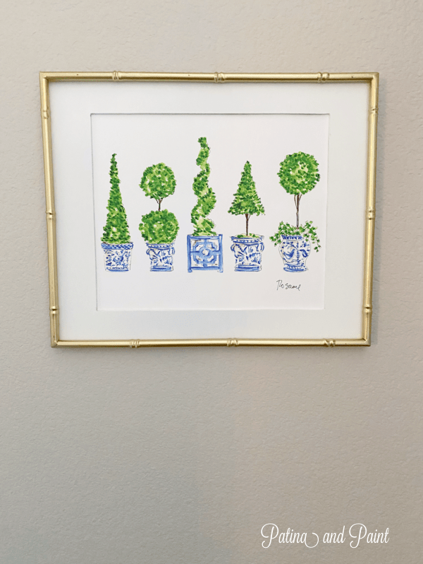 framed topiary print