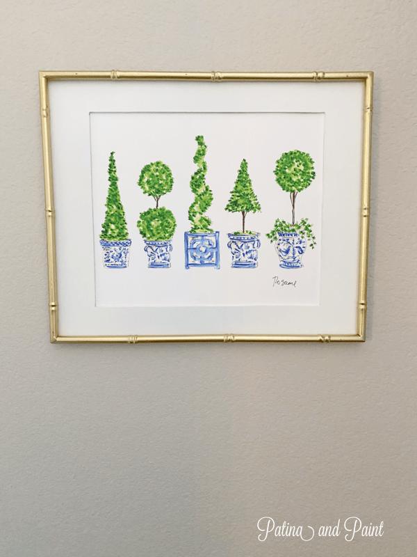 framed topiary print