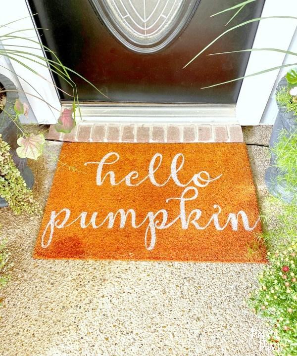 hello pumpkin mat
