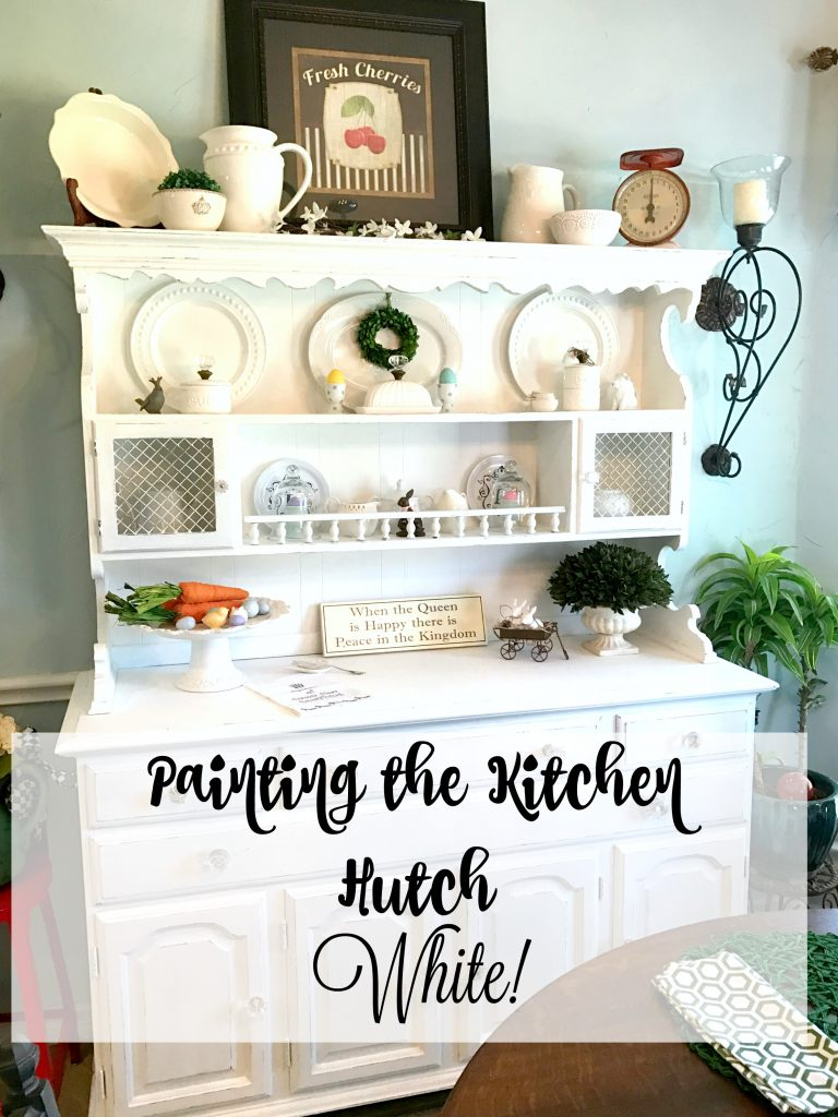 Painting the Kitchen Hutch White