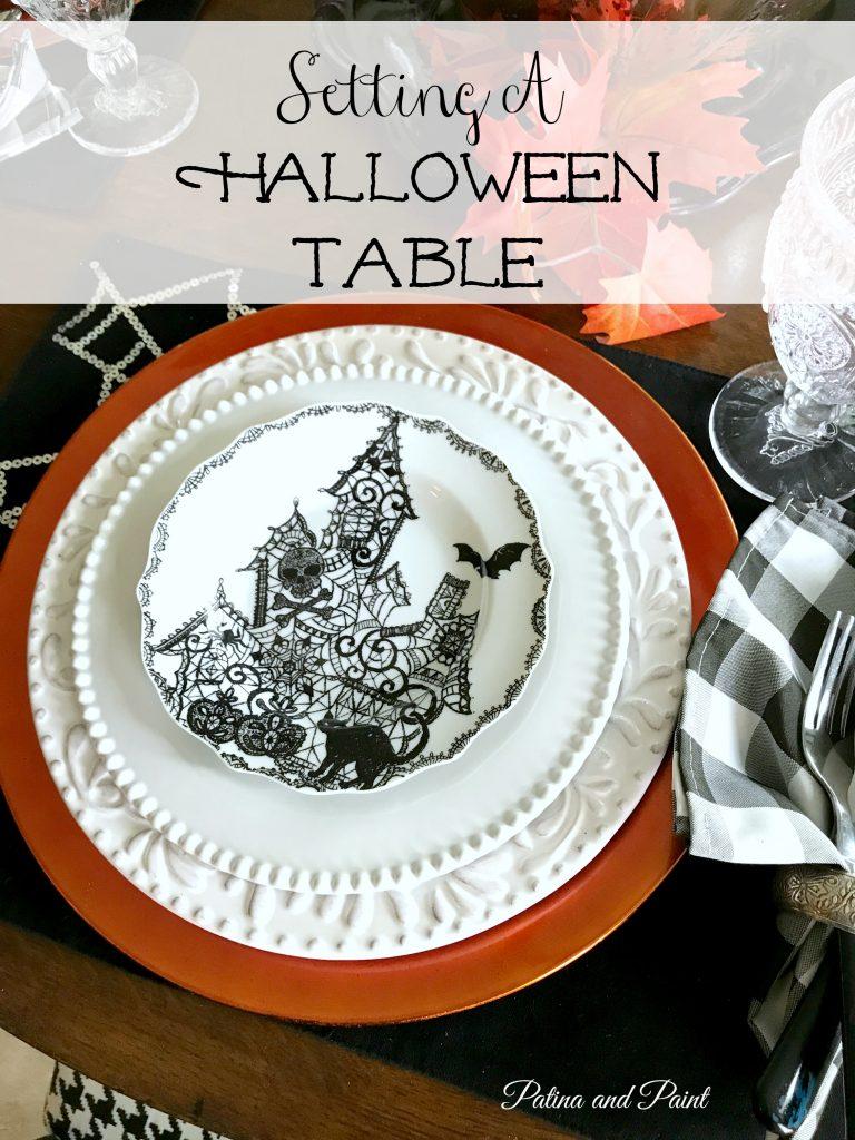 Setting  a Halloween Table