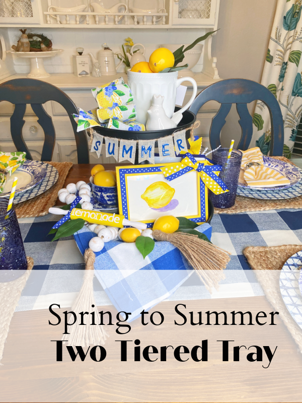 Spring to Summer Two Tiered Tray