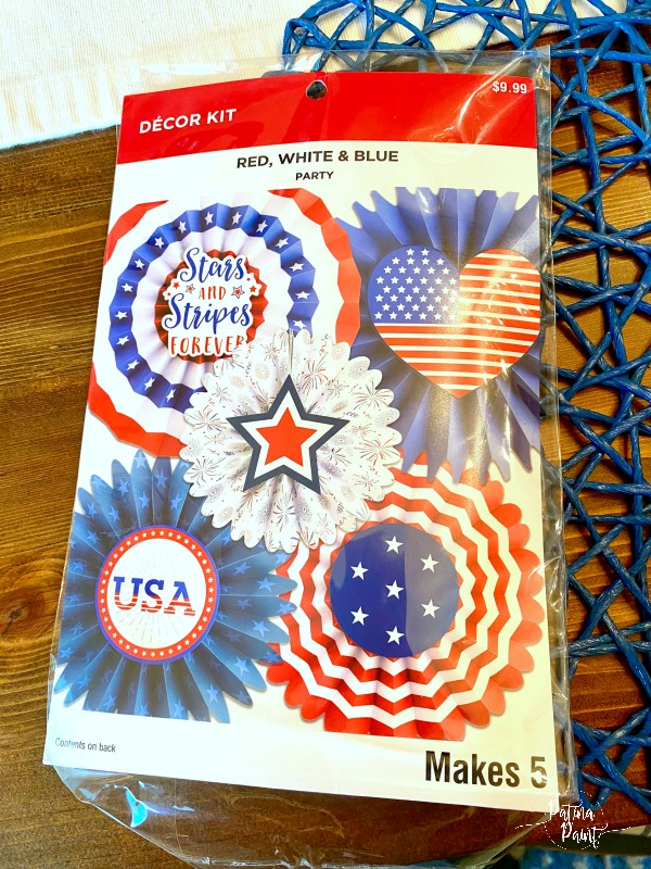 red, white and blue party pack