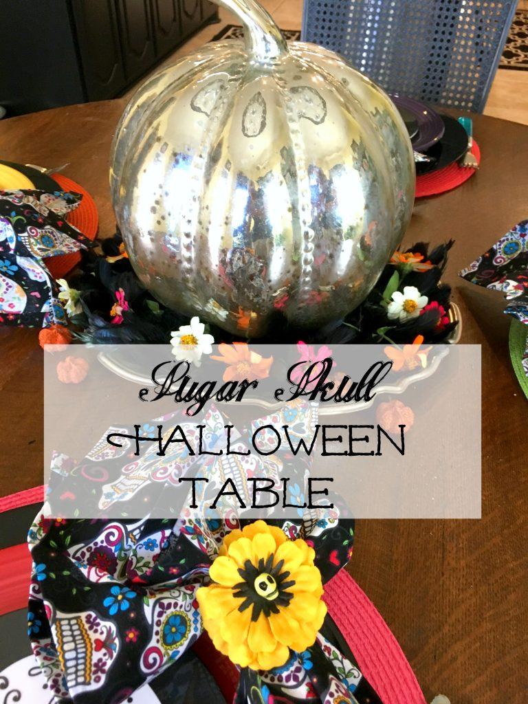 Sugar Skull Halloween Table