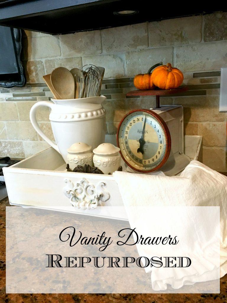 Vanity Drawers Repurposed