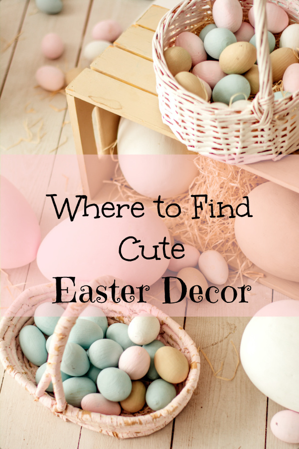 Where to find cute Easter decor