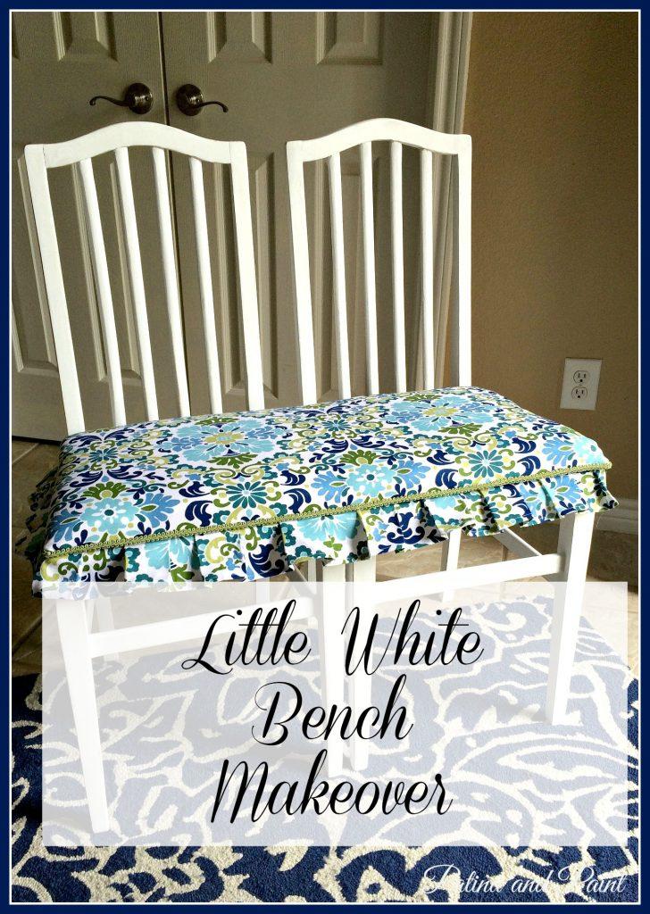 Little White Bench Makeover