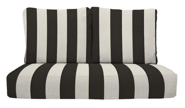 black and white stripe patio cushion