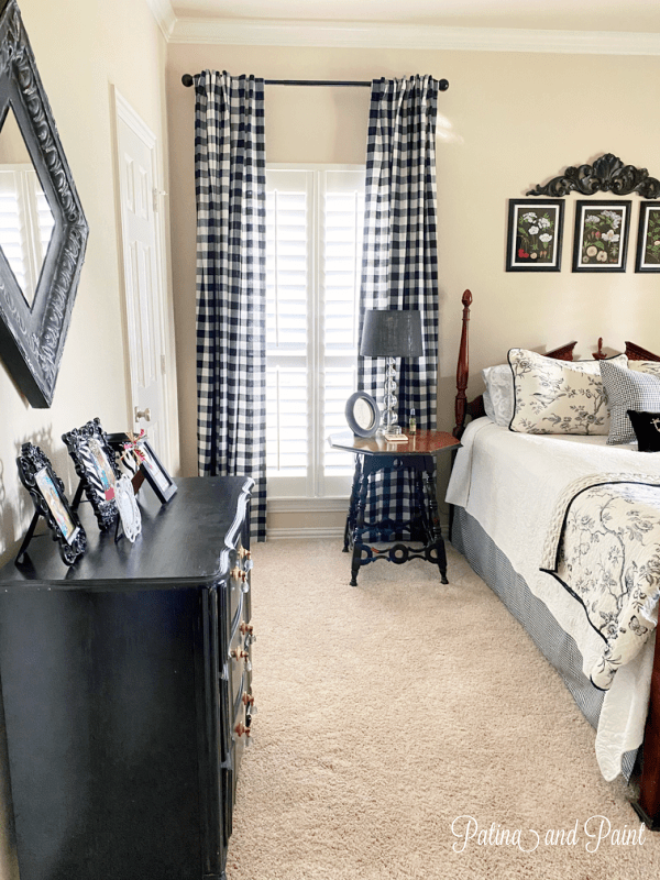 Guest room curtains