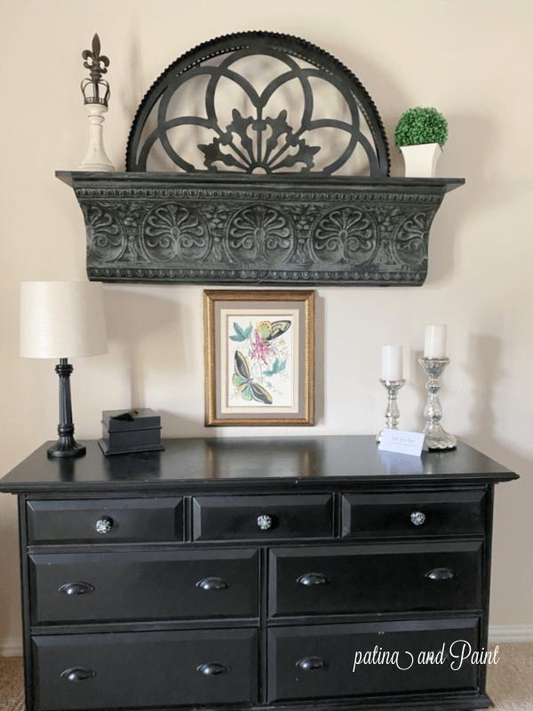 dresser, shelf