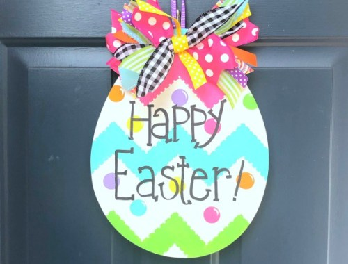 Happy Easter Egg door hanger