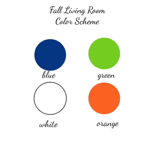 fall living room colors