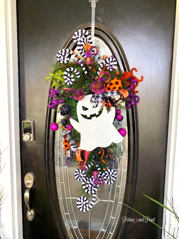 Ghost door wreath