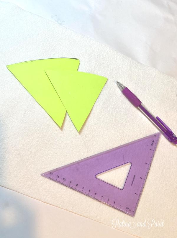 paper, templates, pencil