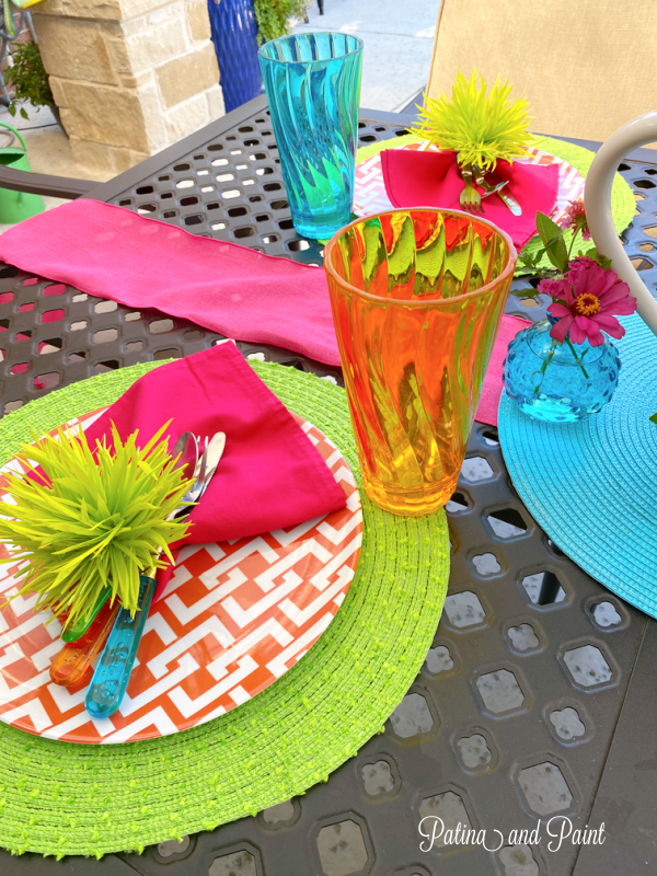 outdoor placesetting