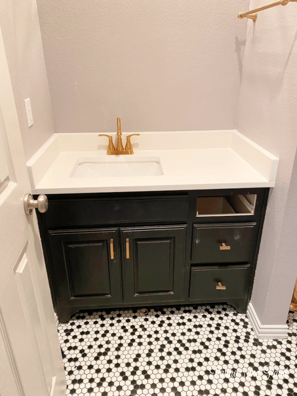 powder bathroom countertop