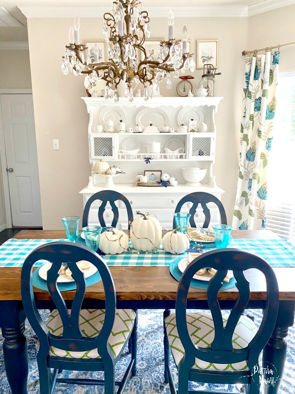 turquoise, fall dining room