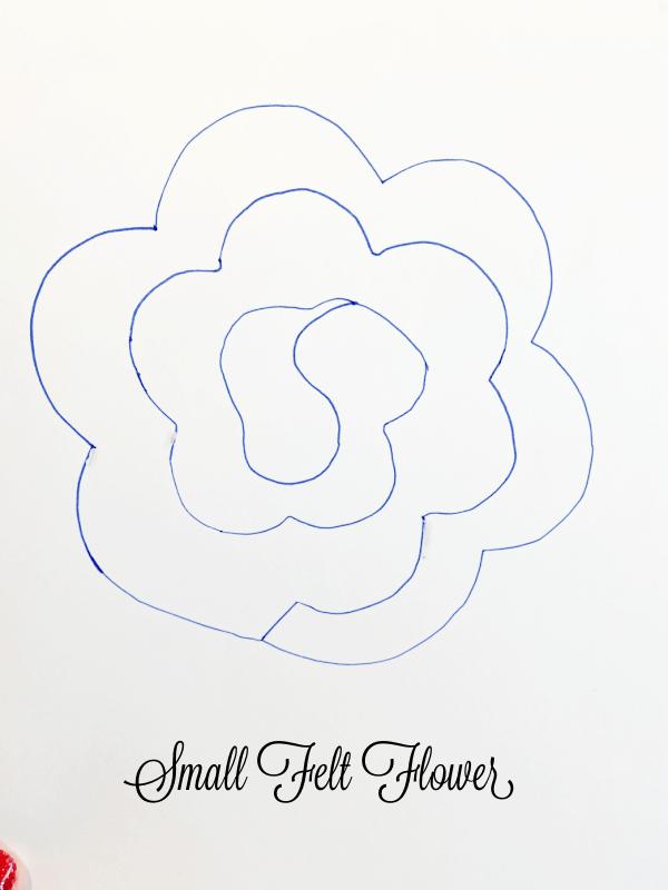 large flower pattern