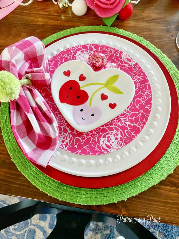 valentine plates, napkins
