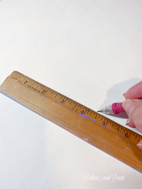 marking lines on lazy susan