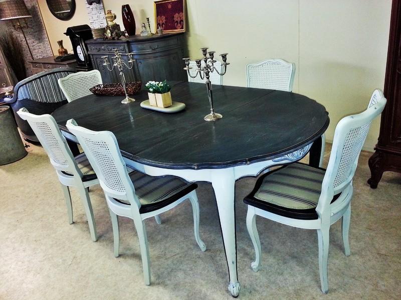 Table Et Six Chaises Louis XV Patines Centerblog