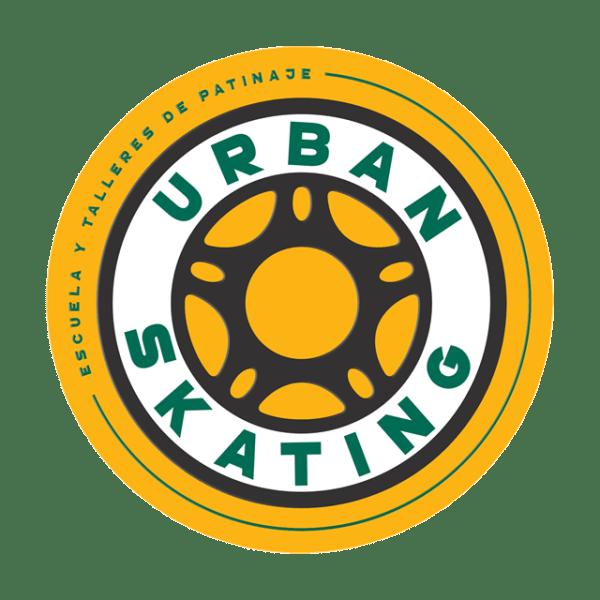 logo escuela de patinaje urbanskating pentagonito