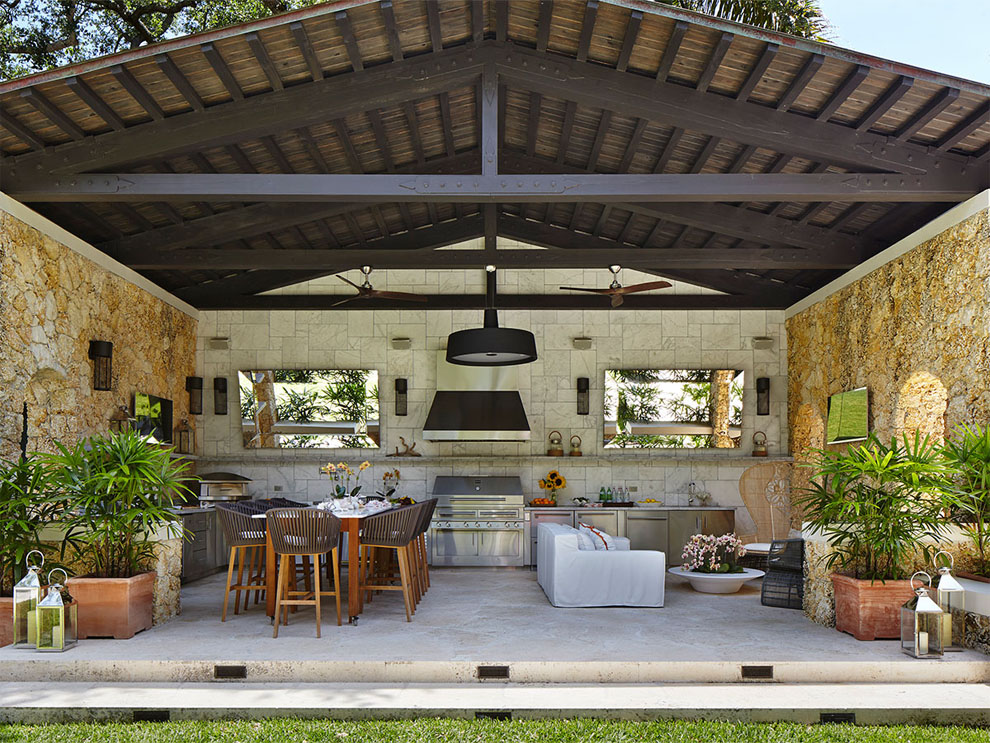 Patio & Things | Entertaining outdoors in Miami during the ... on Outdoor Kitchen Patio  id=89793