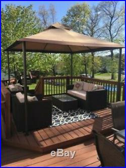 10 x 10 outdoor patio gazebo backyard canopy dining party tent shade on sale patio awnings canopies and tents