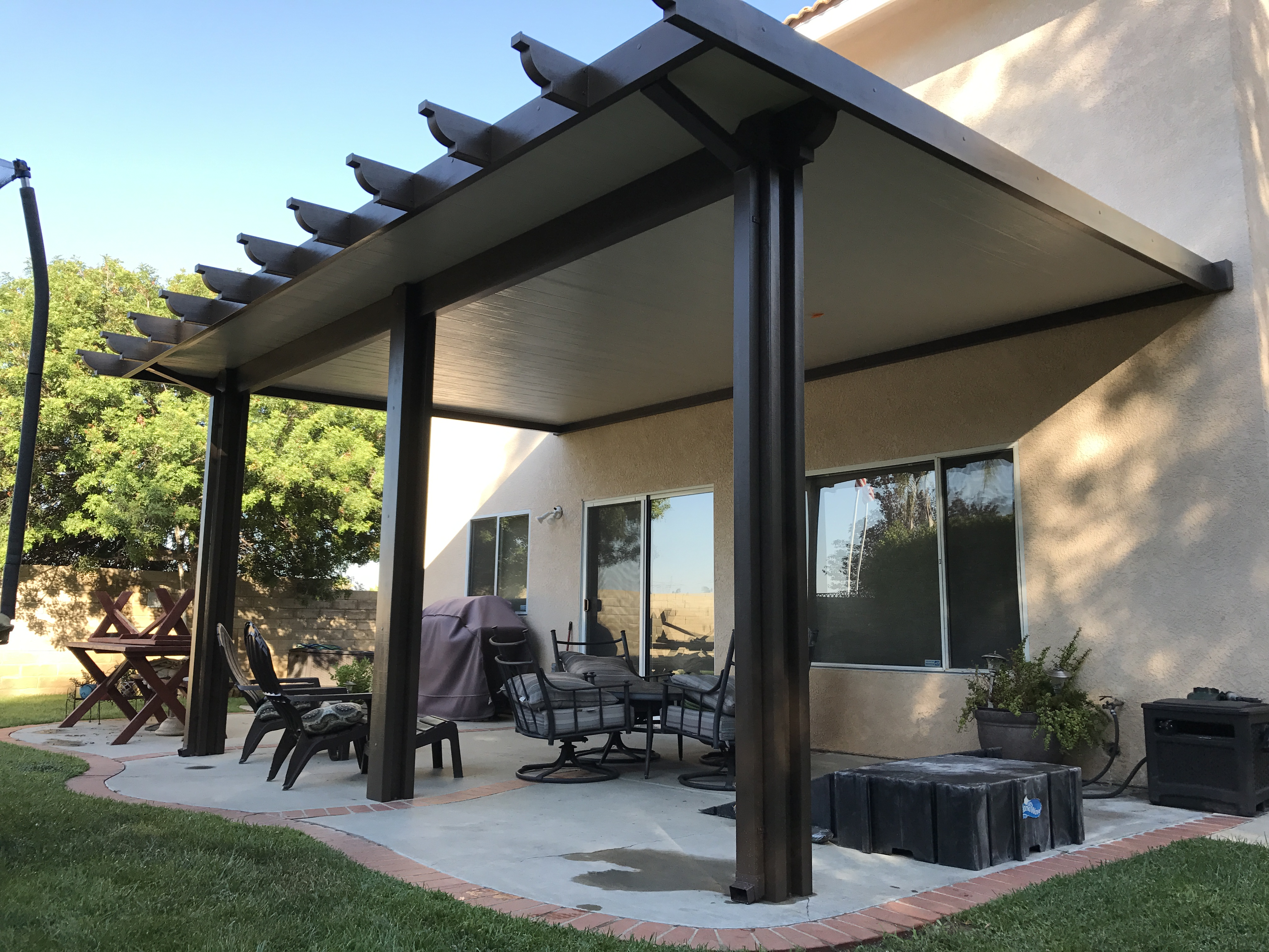 Alumawood Insulated Roofed Patio Cover - Patiocovered.com on Patio Cover Ideas Images id=71997