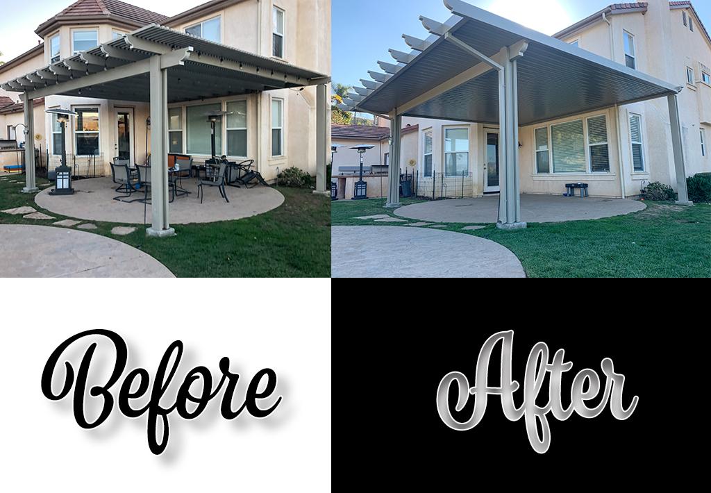 alumawood patio cover repair make over