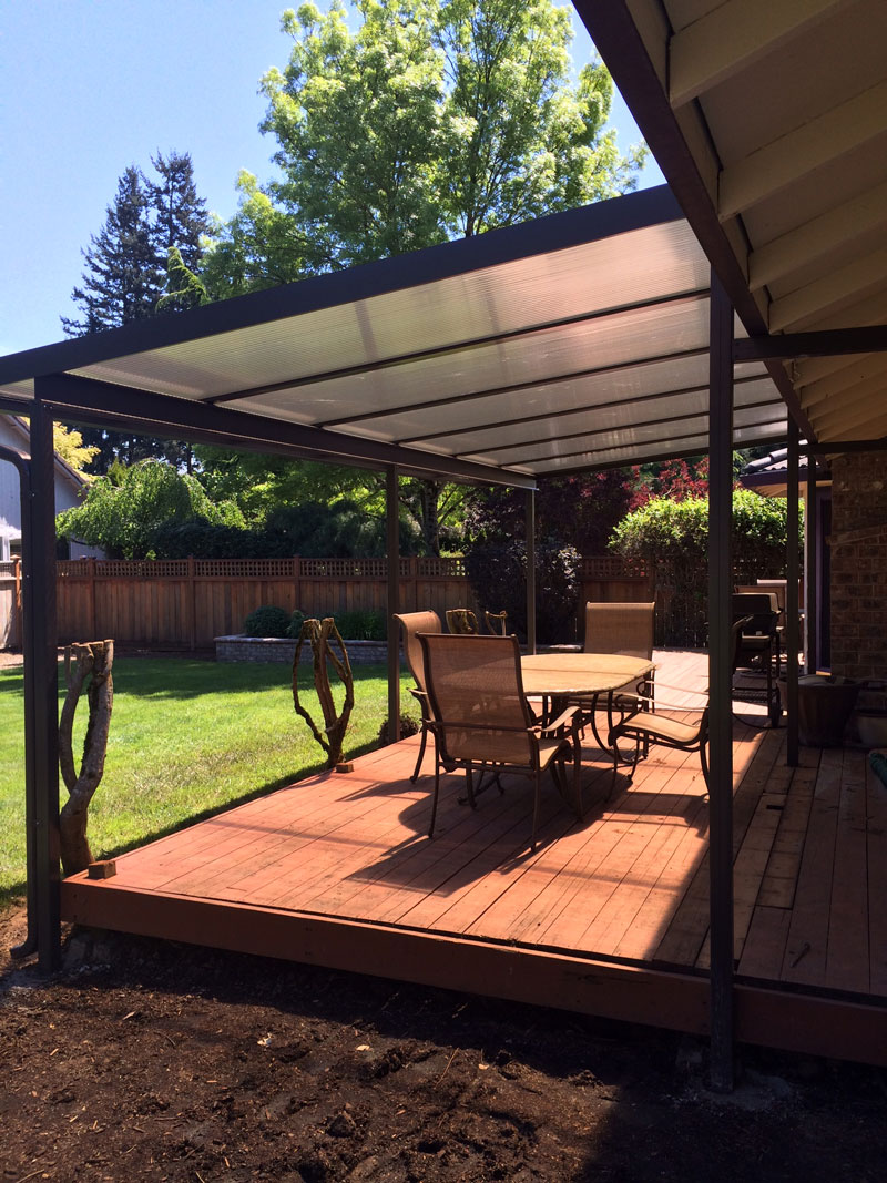 Patio Cover Gallery - Awnings - Deck Covers   Portland OR on Backyard Patio Covers  id=13334