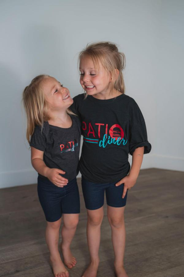 Front of Patio Diner t-shirt, Patio t-shirts for kids