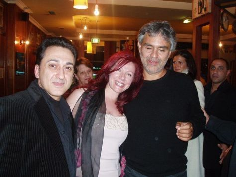 Dominic Ross, Lucy Gale and Andrea Bocelli