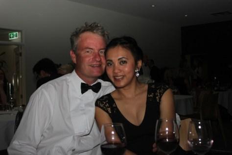 Simon Collett and a friend